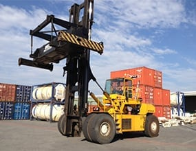 dedicated container handler forklift